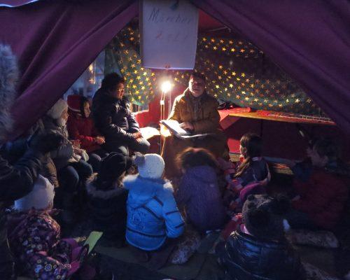 Märchen Zelt beim Winterfest 2015